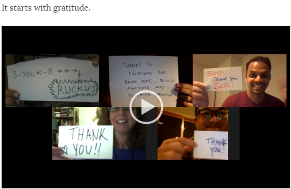 gratitude video capture